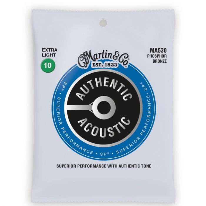 Martin Authentic Acoustic SP Phosphor Bronze Extra Light Guitar Strings