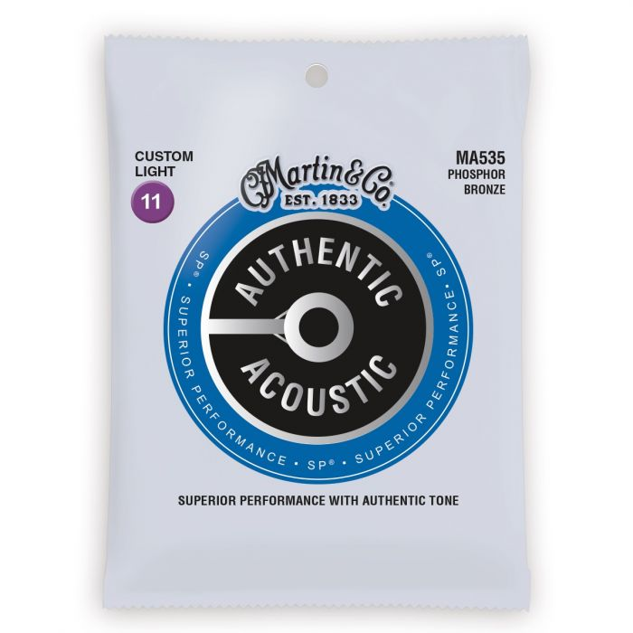 Martin Authentic Acoustic SP Phosphor Bronze Custom Light Guitar Strings