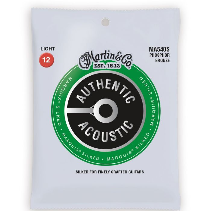 Martin Authentic Acoustic Marquis Silked Phosphor Bronze Light Guitar Strings