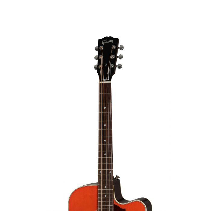 Gibson Hummingbird Mahogany Avant Garde Light Cherry Burst 2019 Fretboard and Headstock