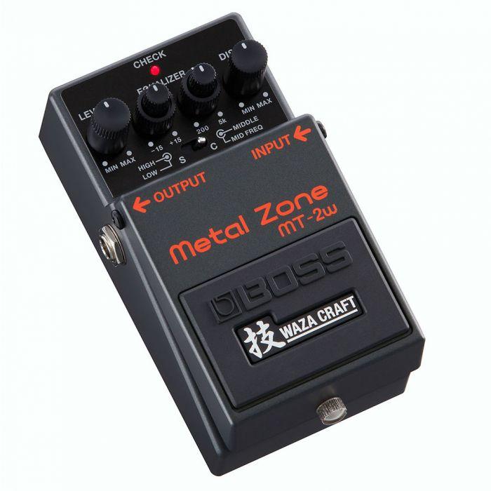 Boss MT-2W Metal Zone Waza Craft Pedal Angle
