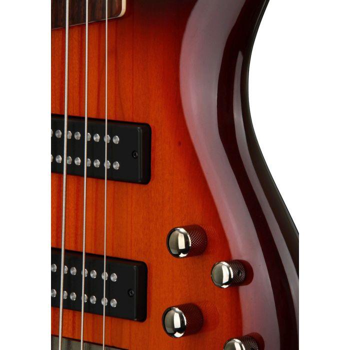 Ibanez SR375E 5 String Bass Aged Whiskey Burst