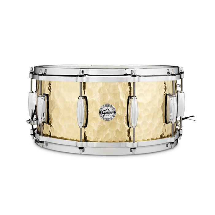"Gretsch Full Range Hammered Brass 14"" x 6.5"" Snare Drum"