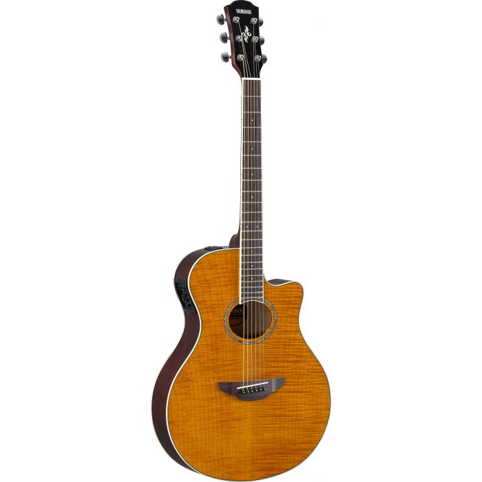 Yamaha APX600 Flame Maple Top Amber