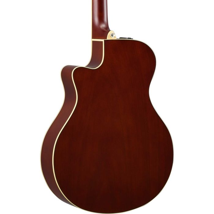 Yamaha APX600 Flame Maple Top Tobacco Brown Sunburst Back