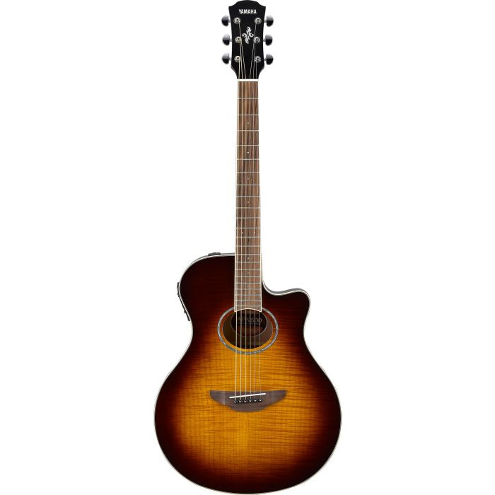 Yamaha APX600 Flame Maple Top Tobacco Brown Sunburst Front