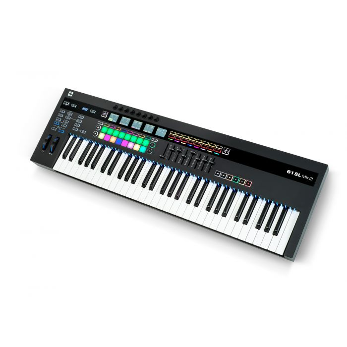 Novation 61 SL MkIII USB MIDI Keyboard Controller Angle