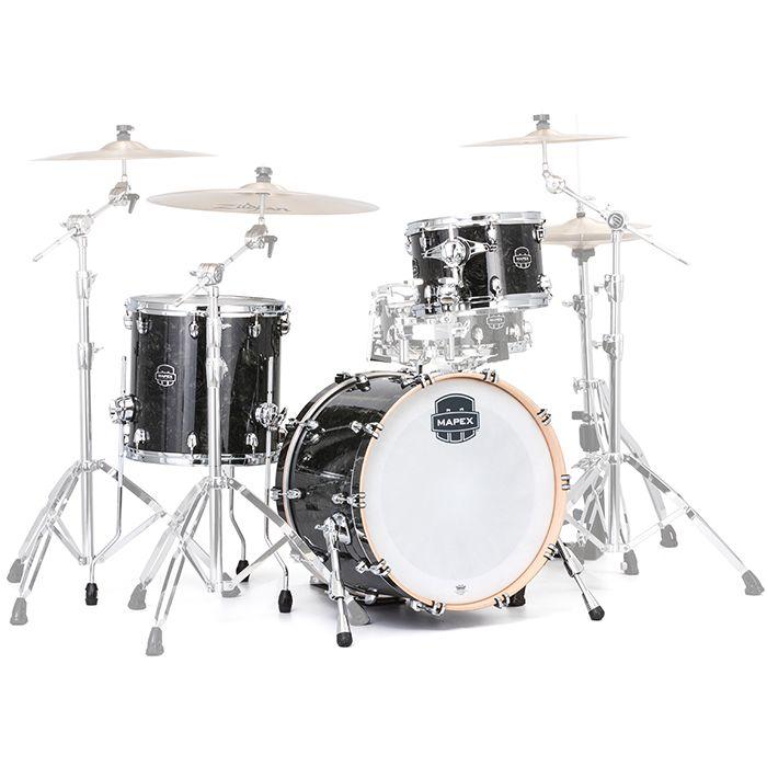 Mapex Saturn V Tour Black Pearl Drum Kit