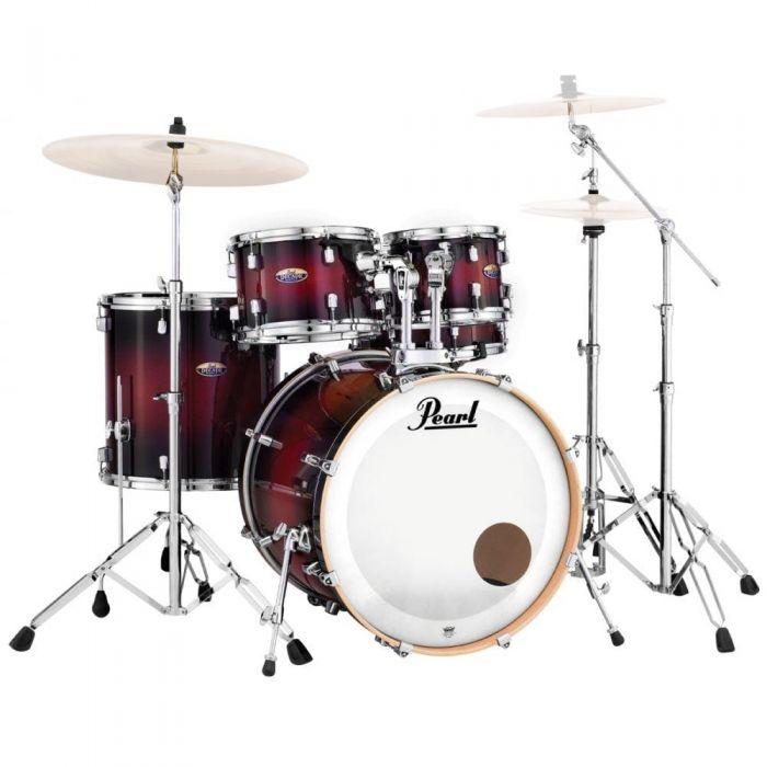 Pearl Decade Maple 5 Piece Gloss Deep Red Burst Drum Kit