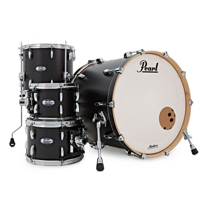 Pearl Masters Maple Matte Black Shell Pack