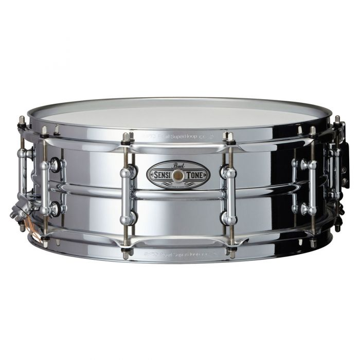 "Pearl Sensitone Beaded Steel 14x5"" Snare Drum"