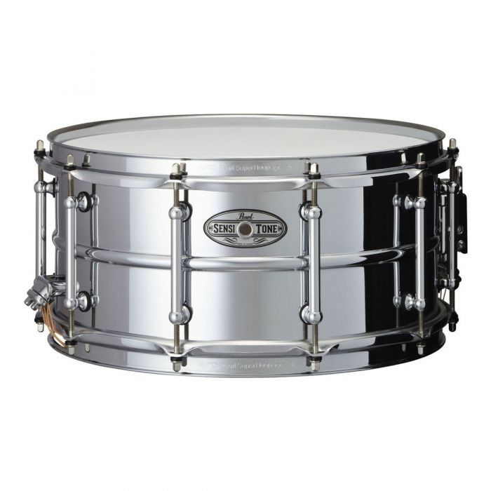 "Pearl Sensitone Beaded Steel 14"" x 6.5"" Snare Drum"