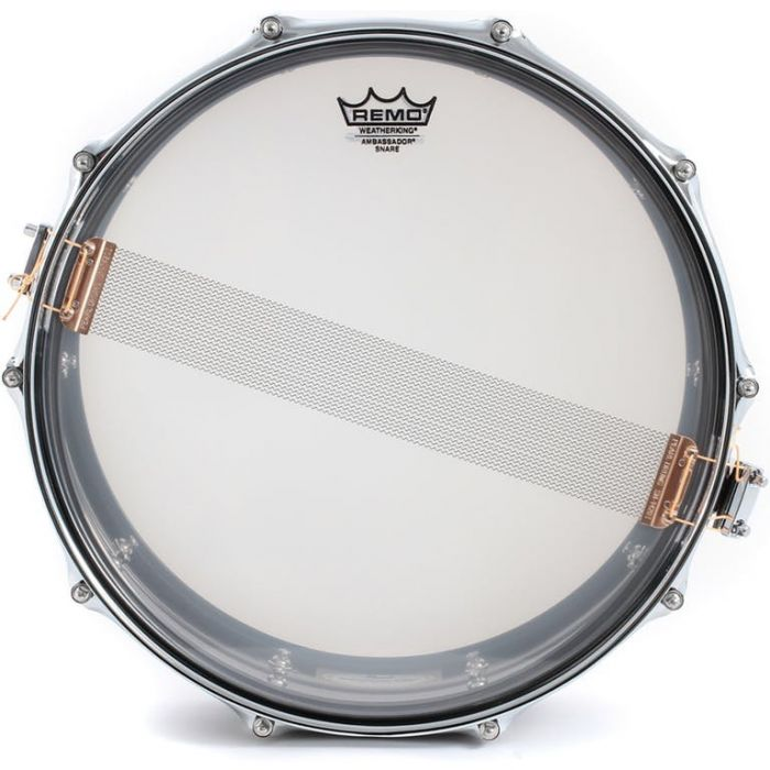 Pearl Sensitone Beaded Steel Snare Drum Underside