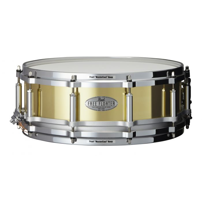 """Pearl Free Floating Brass 14"""" x 5"""" Snare Drum"""