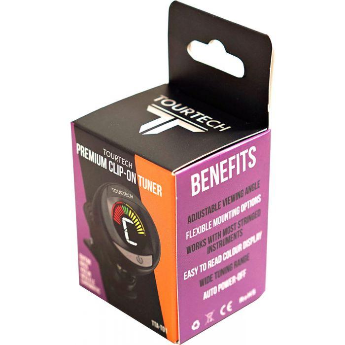 TourTech TTA-T01 Colour Screen Clip-On Tuner in Box