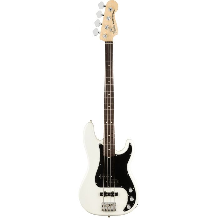 Fender American Performer Precision Bass in Arctic White Front