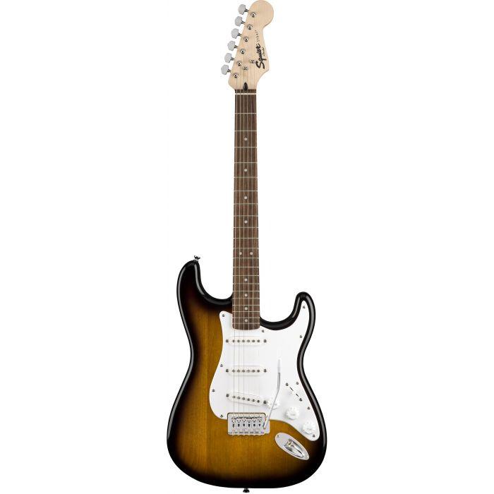Squier Stratocaster Electric Guitar Starter Pack Brown Sunburst Front