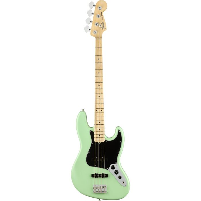 Fender American Performer Jazz Bass Maple FB Satin Surf Green Front