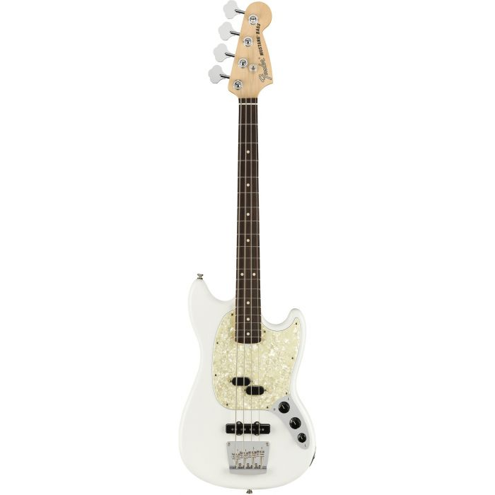 Fender American Performer Mustang Bass RW FB Arctic White front