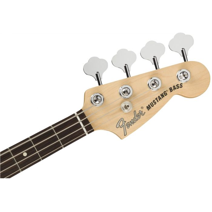 Fender American Performer Mustang Bass RW FB Arctic White headstock front