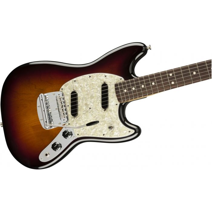 Fender American Performer Mustang RW FB 3-Color Sunburst Front Angle