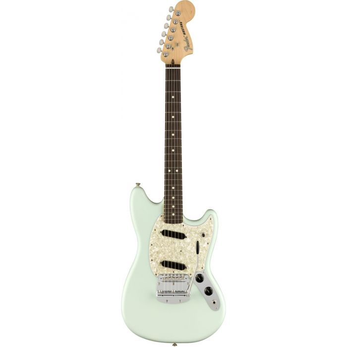 Fender American Performer Mustang RW FB Satin Sonic Blue front