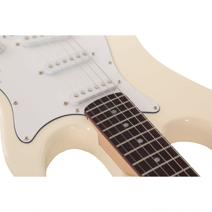 EastCoast GS100 Electric Guitar in Arctic White Top