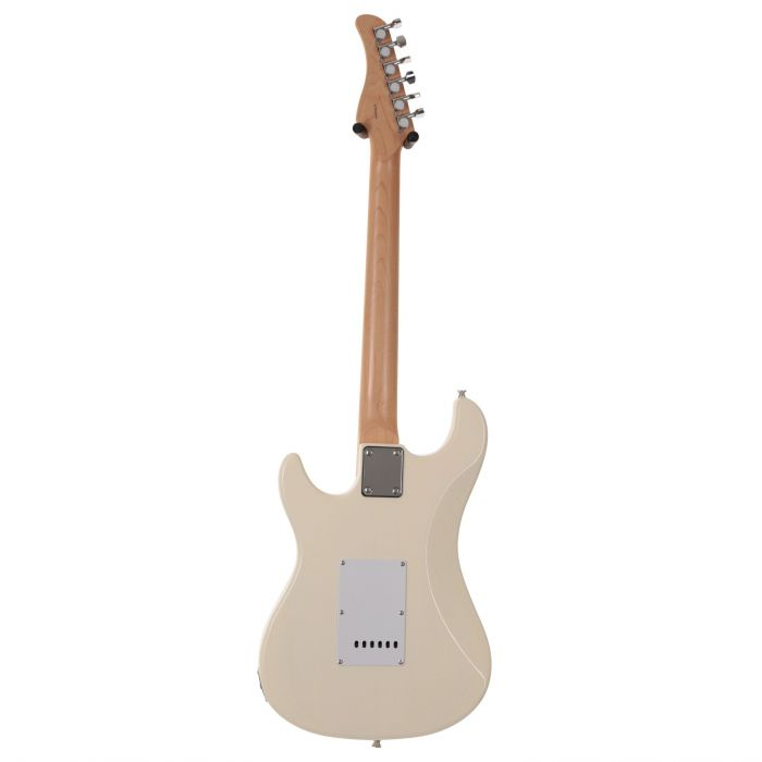 EastCoast GS100 Electric Guitar in Arctic White Rear