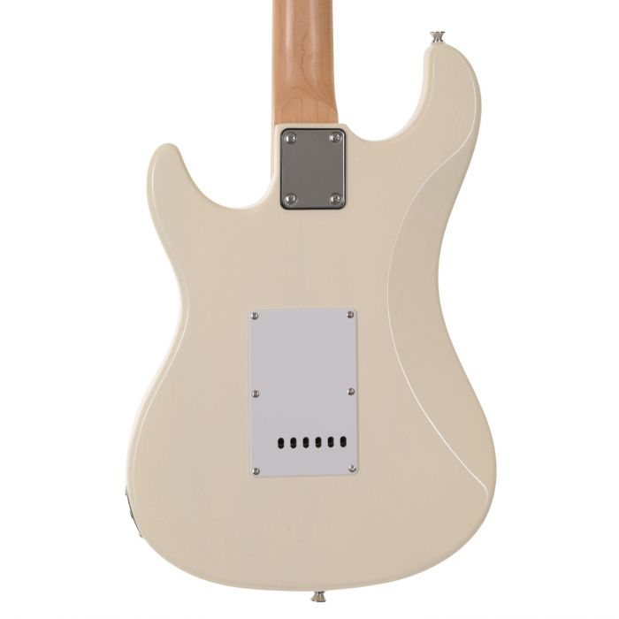 EastCoast GS100 Electric Guitar in Arctic White Rear Body