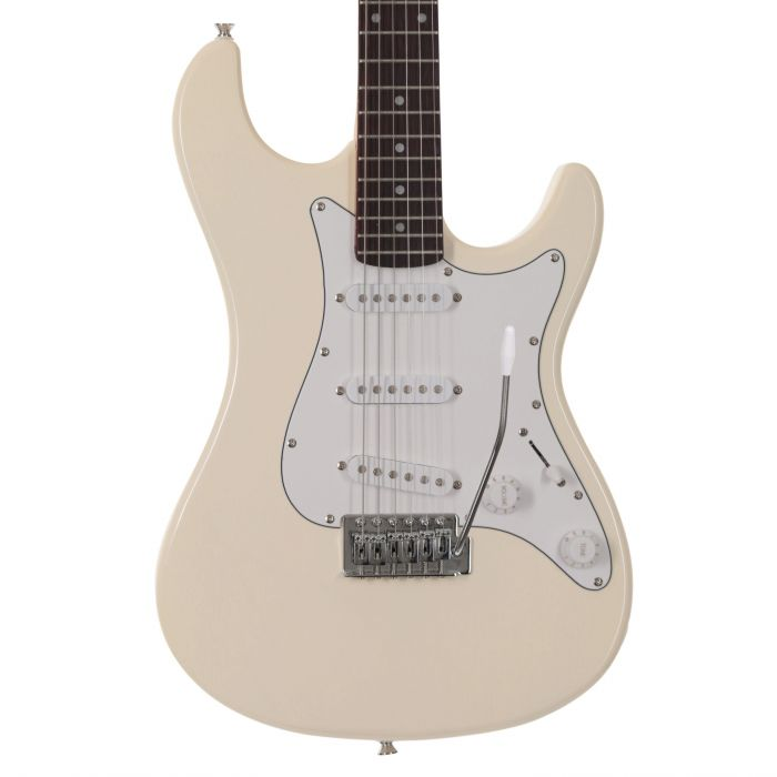 EastCoast GS100 Electric Guitar in Arctic White Body