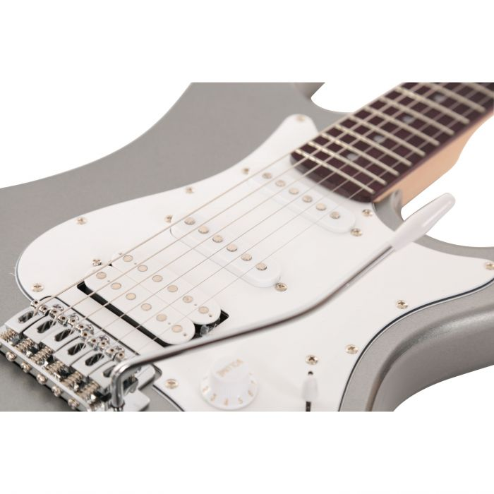 Eastcoast GS100H HSS Electric Guitar Slick Silver Angle