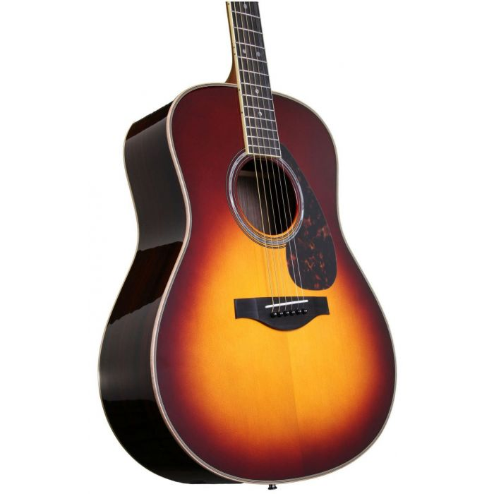 Yamaha LL16BSARE Acoustic Guitar, Brown Sunburst front angle
