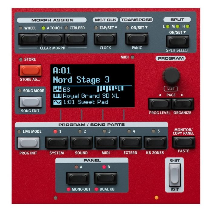Nord Stage 3 88 Digital Piano Panel