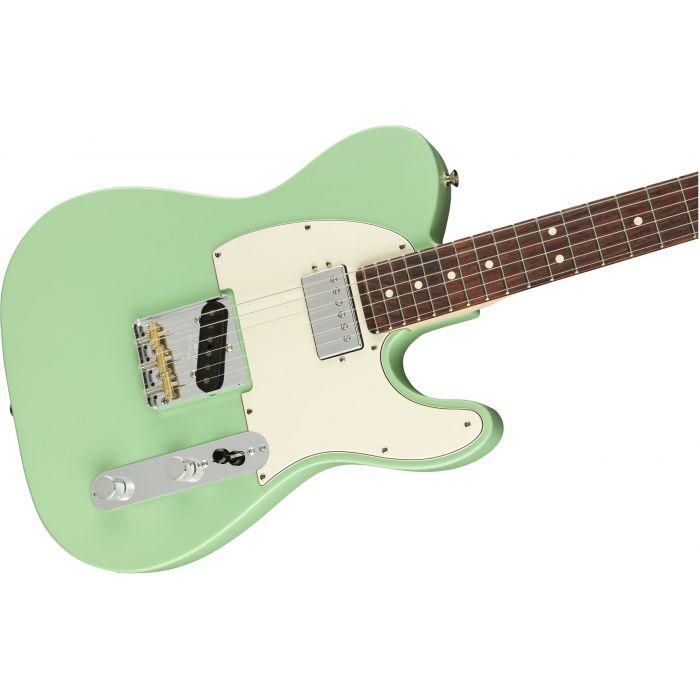 Fender American Performer Telecaster Hum RW Satin Surf Green Body
