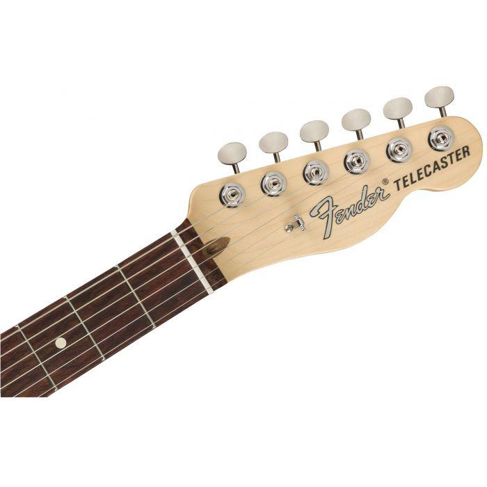 Fender American Performer Telecaster Hum RW Satin Surf Green Headstock
