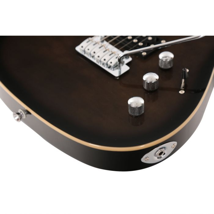 Eastcoast GS500-TGB HSS Electric Guitar in Greyburst Hardware