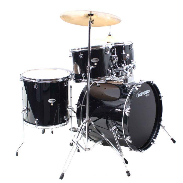 """Mapex Tornado 20"""" Fusion Black Drum Kit"""