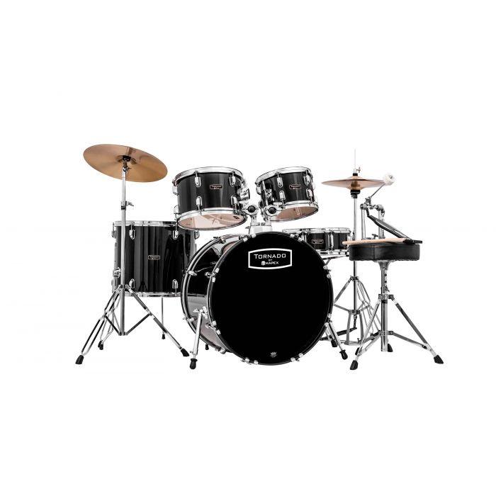 "Mapex Tornado 22"" Rock Fusion Black Drum Kit"