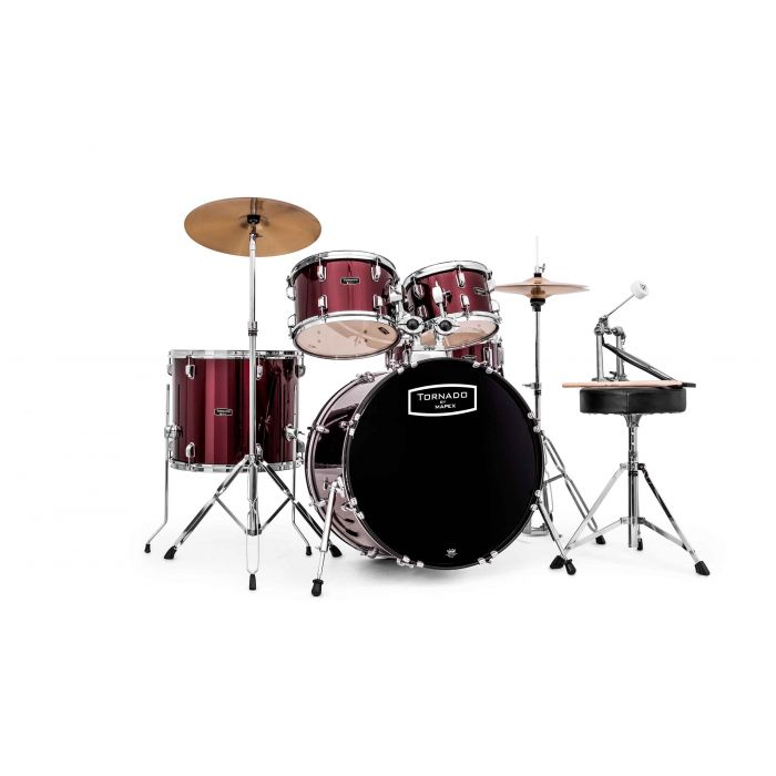 "Mapex Tornado 22"" Rock Fusion Drum Kit in Burgundy"