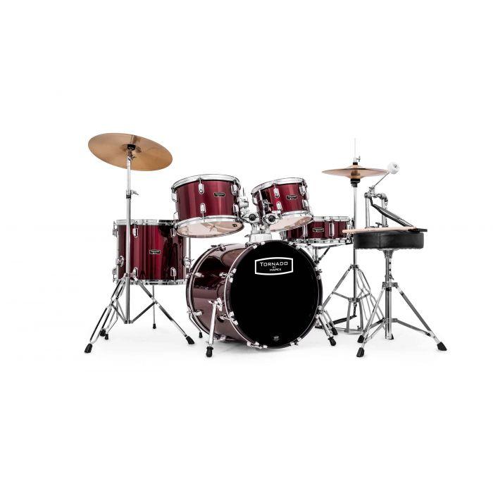 "Mapex Tornado 18"" Fusion Drum Kit in Burgundy"