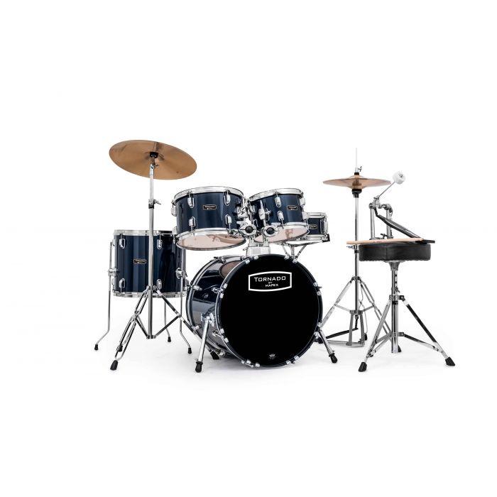 "Mapex Tornado 18"" Fusion Drum Kit in Blue"