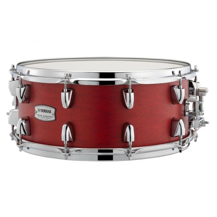 """Yamaha Tour Custom 14"""" x 5.5"""" Candy Apple Satin Snare Drum"""