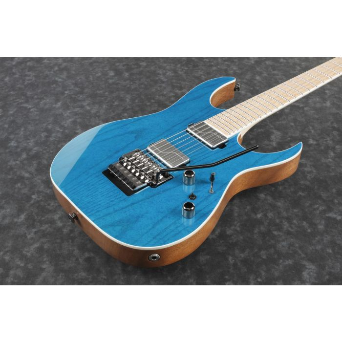 Ibanez RG5120M Electric Guitar Frozen Ocean front angle