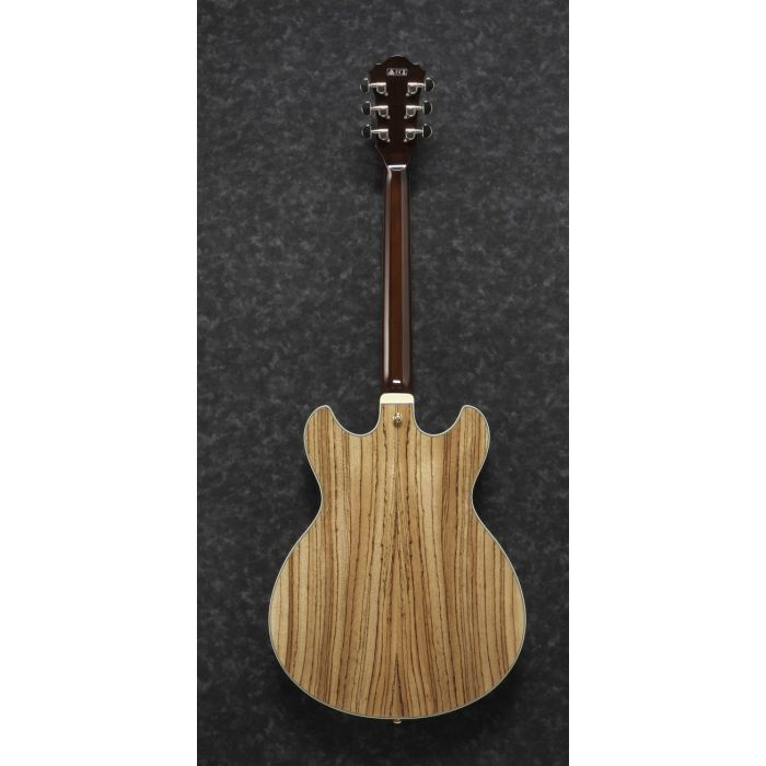 Ibanez Artcore Expressionist Semi-Hollow AS93 Zebrawood Natural rear
