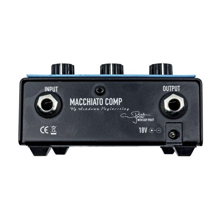 Ashdown Macchiato Guy Pratt Signature Compressor Pedal rear panel