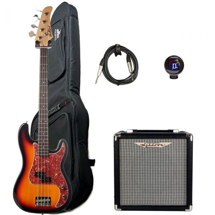 Full view of an Eastcoast GJ10 Bass And Amplifier Starter Pack