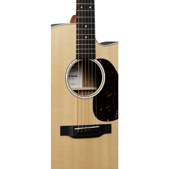 Martin DC13E Electro Acoustic w Fishman MXT Pickup closeup