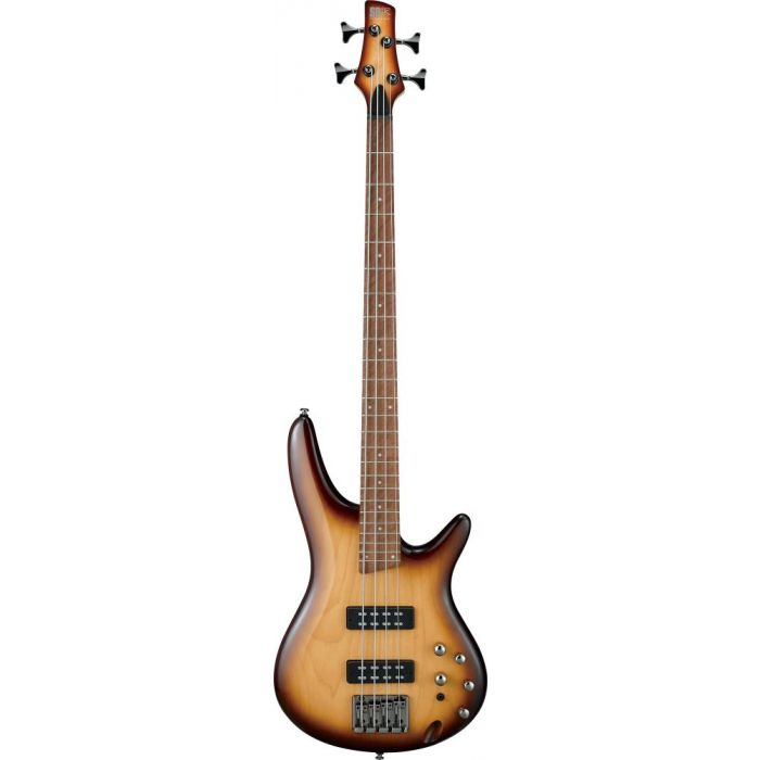 Ibanez SR370E Maple Bass Guitar, Natural Browned Burst