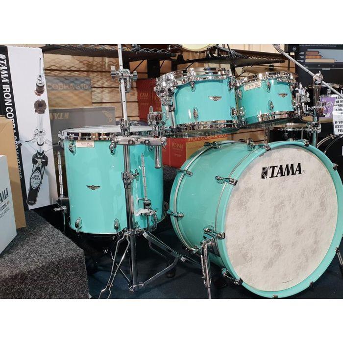 Tama STAR Walnut Grand Aqua Blue Drum Kit