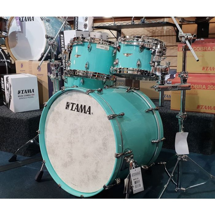 Tama Star Walnut Drum Kit in Grand Aqua Blue